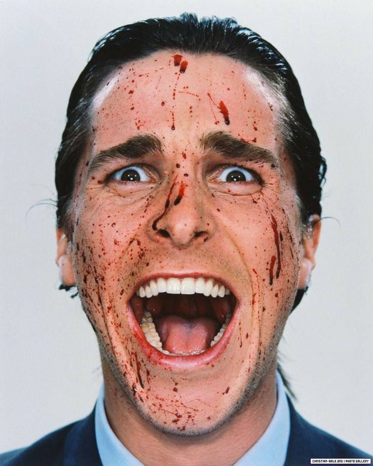 Christian Bale by Martin Schoeller for American Psycho