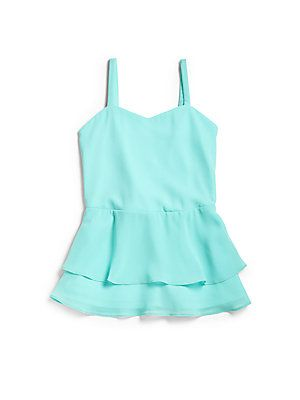 Sally Miller Girl's Chiffon Peplum Tank Top