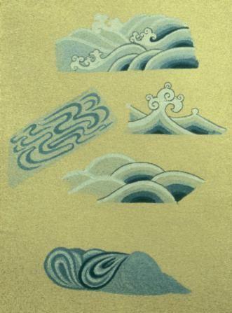 Cahide Keskiner - Minyatür Sanatında Doğa Çizim ve Boyama Teknikleri Deniz ve akarsu boyaması