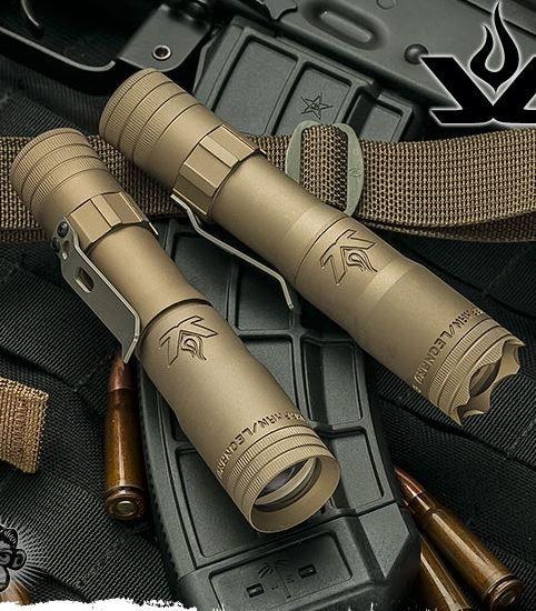 LensLight KO Tan Dual Output EDC Tactical Flashlight Smooth Bezel (Default High) LLKOT-3S