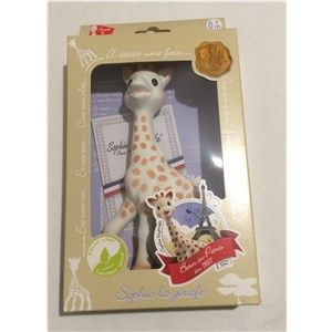The world's most famous Giraffe - Sophie was born in Paris in 1961, and has been a favourite teether for children the world over for more than 50 Years. Perfect stocking filler this xmas