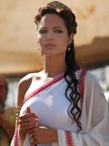 Angelina Jolie as Cleopatra in the upcoming film.