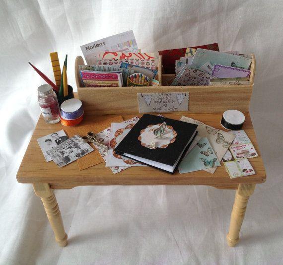 Dolls House Miniatures Scrapbook Craft By LittleHouseAtPriory, $65.00