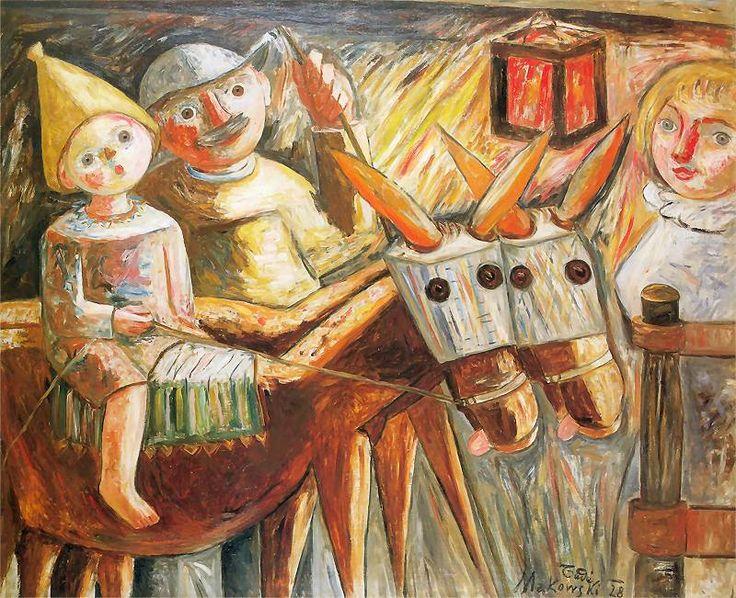 Rodzina wieśniaków. Olej na płótnie 1928 roku.