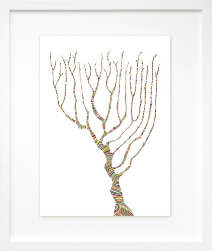 Interconnected 1, by Carrie Marill | 20x200: Marill 20X200, Illustration, 20X200 Available Starting, Tree Art, Products, Carrie Marill, Sketching Trees