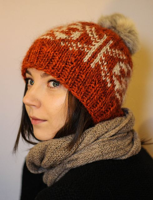 Inspired by my upcoming trip to Iceland and the need for a warm hat I designed this hat simple hat using Icelandic Wool and a classic Fair Isle Motif.