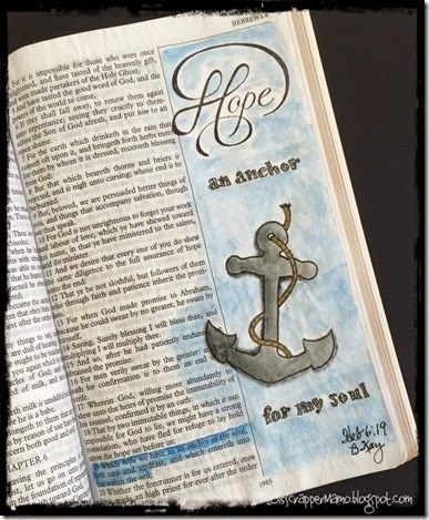Hope an Anchor Bible Art Journaling Heb 6-19