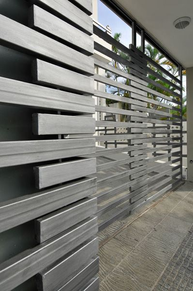 Such a Modern Garage door idea!  Obviously safer for recessed homes with proper gating