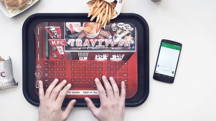 KFC Tray Typer keyboard is finger clickin' good