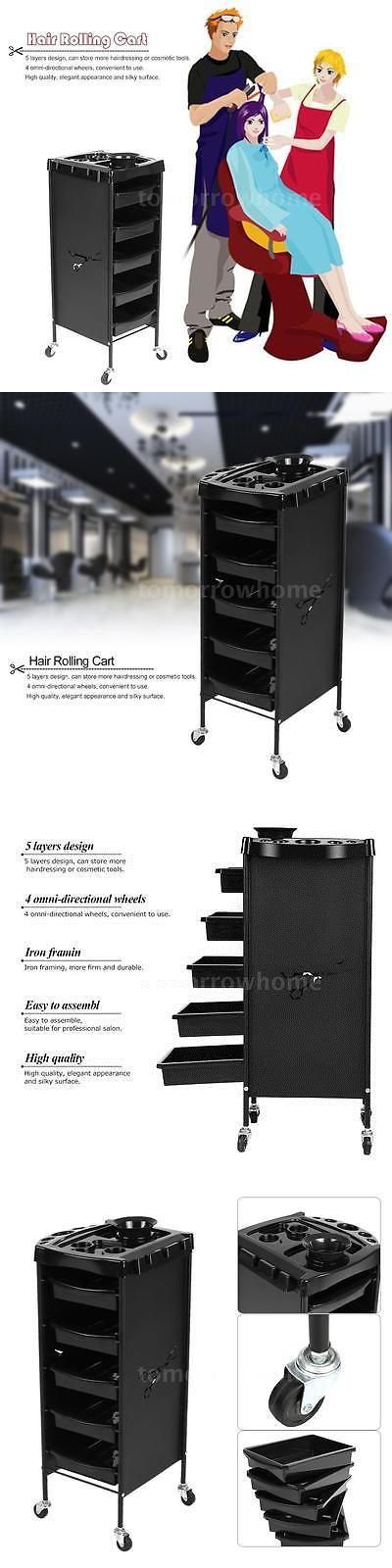 Salon and Spa Supplies: Portable Hair Drawer Hairdressing Colouring Cart Salon Trolley Storage Cart H8f2 -> BUY IT NOW ONLY: $58.88 on eBay!