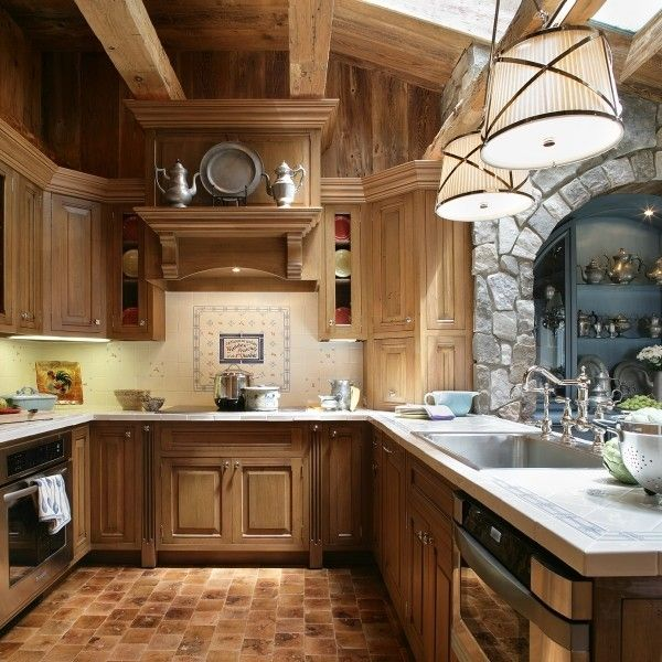 Custom Made Custom Country Kitchen CabinetryDecor, Traditional Design, Ideas, Kitchens Design, House Design, Cabinets Colors, Shingles Style Home, Traditional Kitchens, Rustic Cabin
