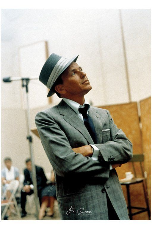 OLD BLUE EYES HIMSELF LOOKING LIKE THE BOSS OF ALL BOSSES...ALL BRONIES TAKE NOTE AS TO HOW YOU CAN PULL OFF A FEDORA (HINT: YOU CAN'T IF YOU'RE NOT AS COOL AS FRANK SINATRA [YOU AREN'T])