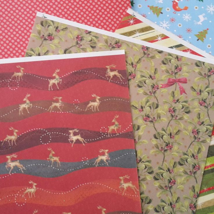 Christmas patterns and papers. New Christmas  cards, boxes  and gift  card holders are available by artMagnolia :-)