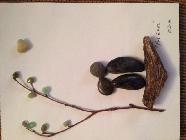 """Pebble Art"""" For ever"""" by Denise Gray"""