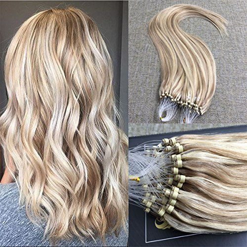 Best 25 micro ring hair extensions ideas on pinterest shop blonde highlighted loop micro ring remy human hair extensions sunny hair extensions pmusecretfo Choice Image