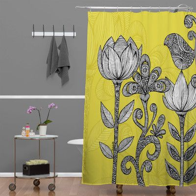 Contemporary Yellow Shower Curtain Hooks
