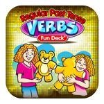 "Regular Past Tense Verbs  - This colorful educational App has 52 illustrated picture cards, plus audio of each card's text . Have your child fill in the blank to practice regular past tense verbs. The prompts include statements like, ""Becky will ___ a cake"" and ""Yesterday, Becky ___ a cake."""