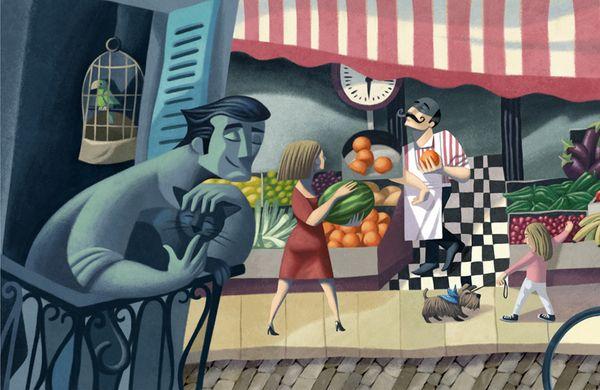 Mostaza Design | Da Nicola | Italian Restaurant | Madrid | Murals 1 by David de Ramón | #retaildesign #mostazadesign #branding #interiordesign #graphicdesign #retail #illustration #mural #restaurant