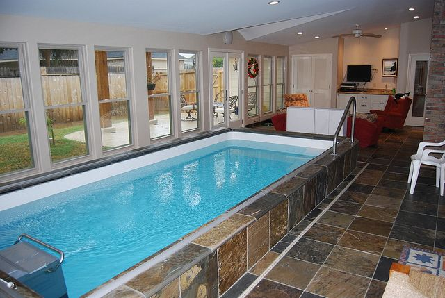 9 best indoor swimming pools images on pinterest endless for Saltwater endless pool