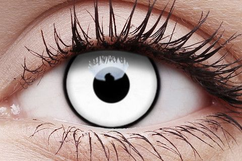 We offer best quality Crazy Contact Lenses at very low price with free express delivery. $25.00 White Zombie One Day Wear Crazy Contact Lenses Pair.