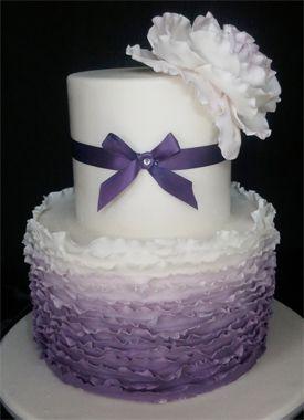 ombre grise glands gâteaux fleurs top top – Google Search – Grey Ruffle Ras …   – Gateau Framboise