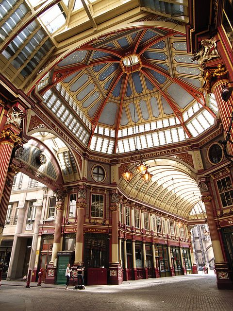 Leadenhall Market is one of the most famous Victorian markets in London. It was used as a filming location for Diagon Alley in the Harry Potter movies, too.
