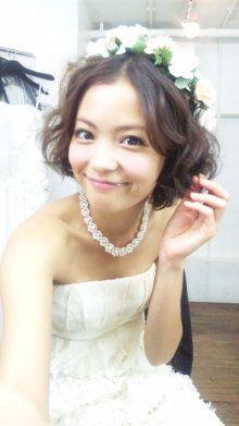 【結婚式ヘアメイク】 ショートカットの花嫁Ⅲ の画像|yanのweddingブログのちプチプラLIFE☆