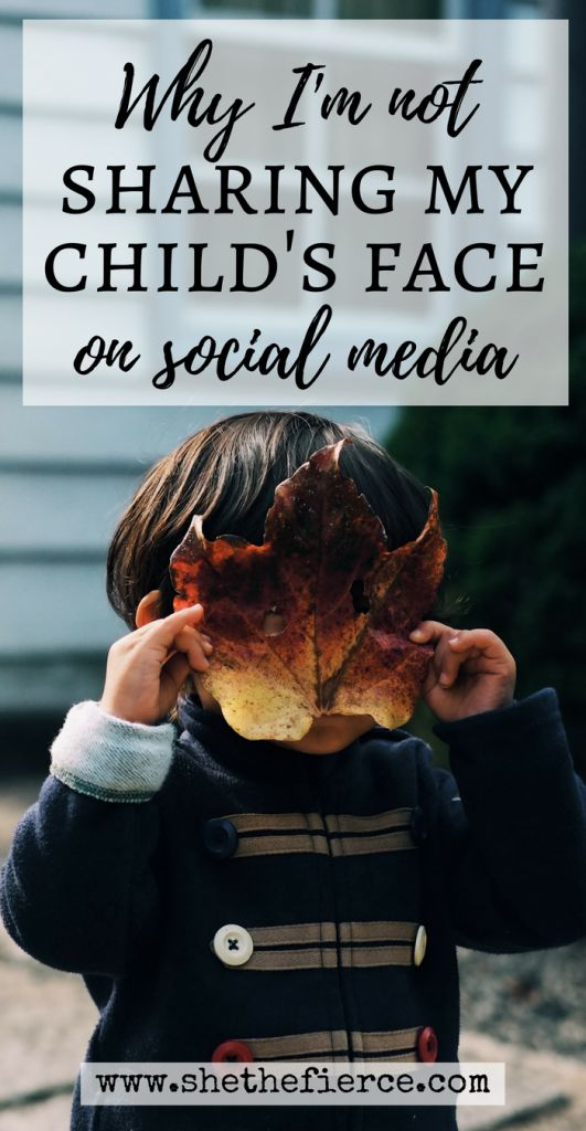 On Keeping My Child's Face Off Social Media | #socialmedia #parenting #internetsafety | Keeping your children's lives private online