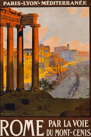 Rome Italy Tourism Travel Vintage Ad Premium Poster at AllPosters.com
