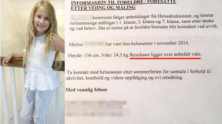FIKK BREV:  Malina (9) fikk torsdag et uventet brev. - Vi er sjokkerte, sier foreldrene.
