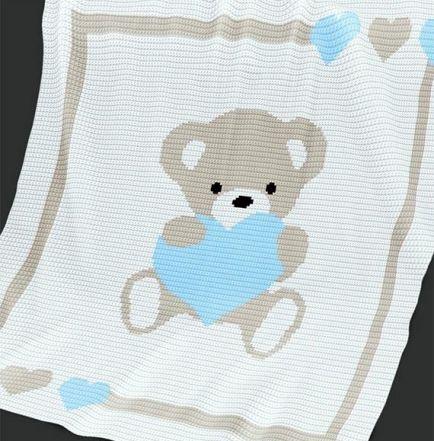 Crochet Pattern | Baby Blanket / Afghan - Sweet Heart