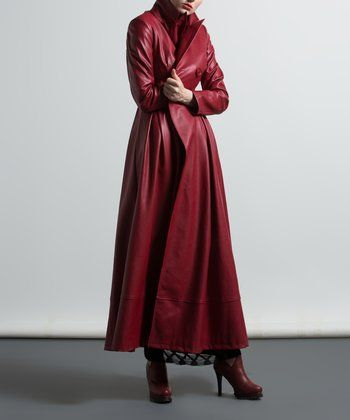 Red Trench Coat - Plus Too