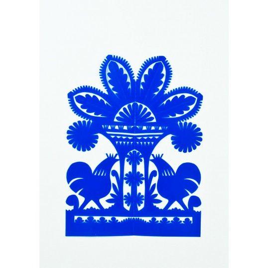 Hand made by folk artist Mr. A. Dudkiewicz, traditional paper cut-out from Rawa Mazowiecka.