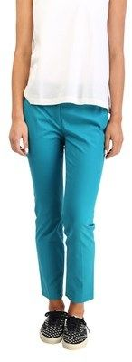 Prada Women's Cotton Slim Fit Chino Pants Turquoise.