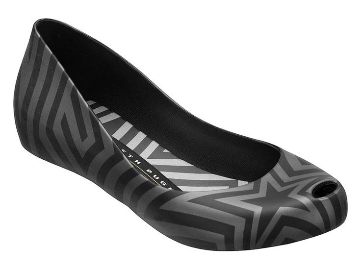 Ultragirl and Gareth Pugh collaboration flat shoe in black and silver designed for Melissa - Australia Spring 2012 $119