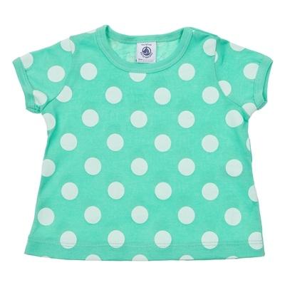 Maglietta verde a maniche corte motivo a pois Petit Bateau su #venteprivee