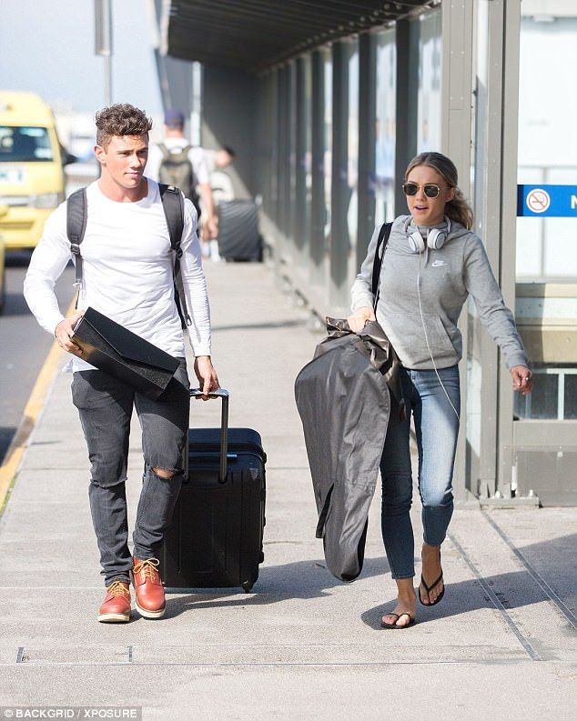 'Are you dating?': Home And Away's Orpheus Pledger sparks rumours he's dating Sam Frost by sharing a photo of the 'couple' at the airport after THAT rumoured Logies 'hook up'