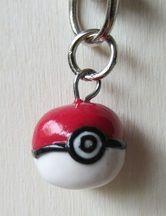 Pokeball keychain for sale @ http://craftsbycloud.weebly.com/kawaii.html #japan #pokemon #pokeball #craftsbycloud #keychain #fimo