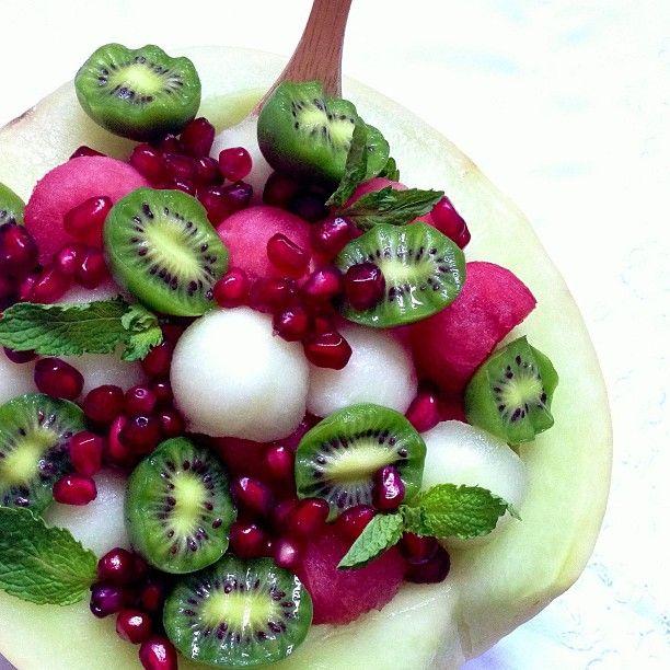 Kiwiberry & Melon Salad  WithRawIntentions.com