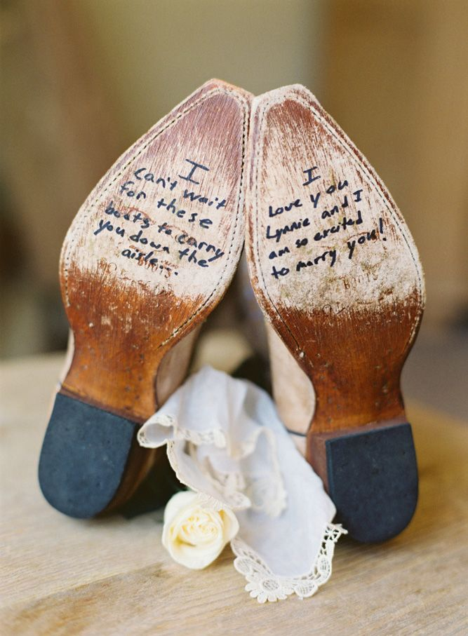 24 Cowgirl Boots Wedding Ideas For Country Weddings ❤ See  more: http://www.weddingforward.com/cowgirl-boots-wedding-ideas/ #weddings #rustic