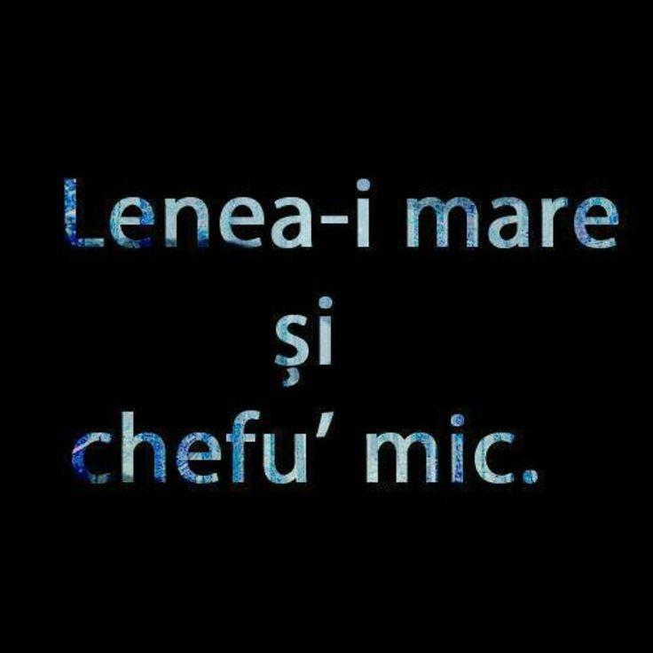 Lenea si chefu' #romaneste