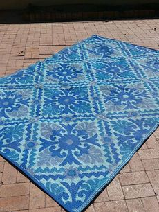 6ft X 9ft World Market Royal Blue Boho Outdoor Rug