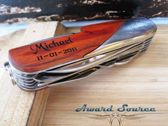 Swiss Pocket Knife  Personalized Groomsmen Gift by KnifeEngraving