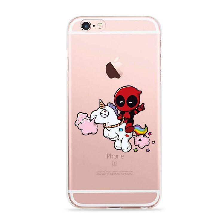 Anime Marvel Soldier Deadpool Back Case For iPhone 6 6S Plus Case Marvel Comics Superhero Silicone Phone Cover Fundas
