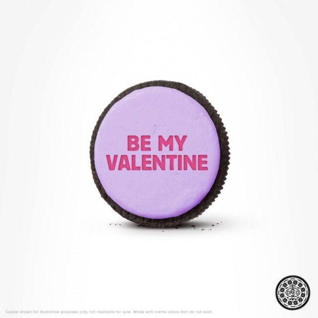 Az Oreo is ügyesen megragadta a Valentin-nap lényegét, és egy fél Oreoval, a szokásos minimalista stílusban üzent.