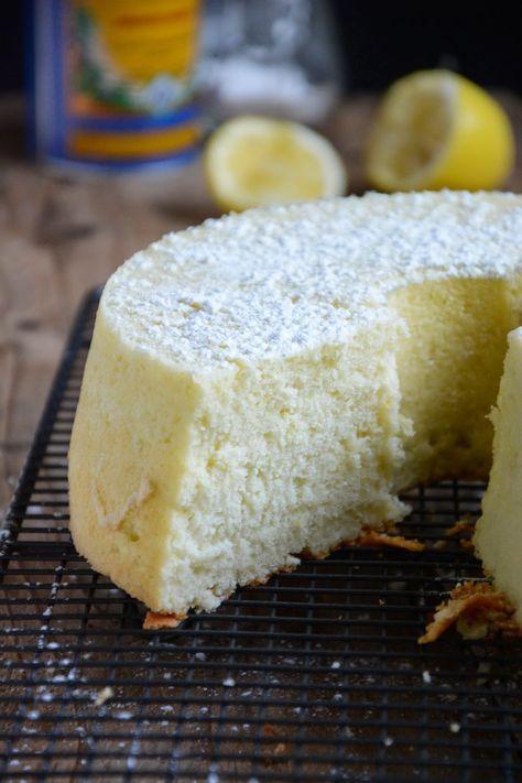 Gâteau léger comme une plume aux blancs d'oeufs #recette #gâteau #facile