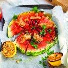 Grillad vattenmelon med jordnötssås - Recept från Mitt kök - Mitt Kök