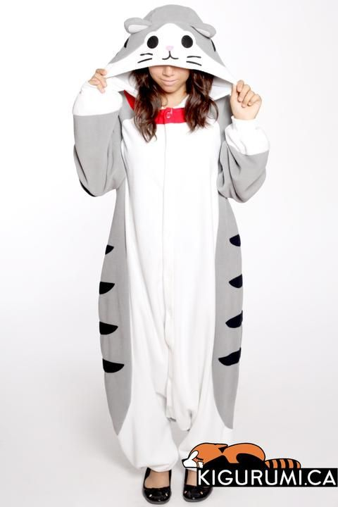 Tabby Cat Onesie Kigurumi Animal Costume Adult Pajamas