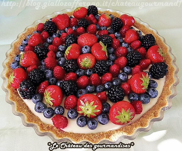 Cheesecake al lemon curd e frutti di bosco - Cheesecake with lemon curd and mixed berries