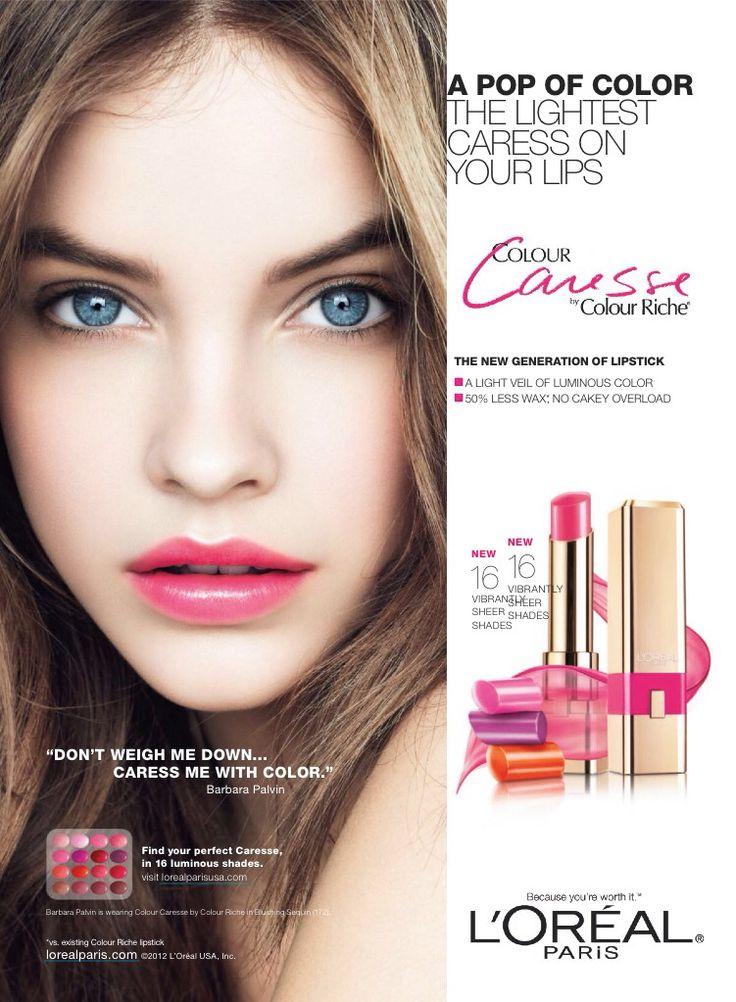 L'Oréal Paris Cosmetic Advertising with Barbara Pelvin